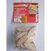 Ламели деревянные для мебельных соединений 10х19х10мм, 50 шт,KWB - Инсел