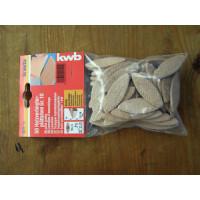 Ламели деревянные для мебельных соединений 20х23х12мм, 50 шт,KWB - Инсел