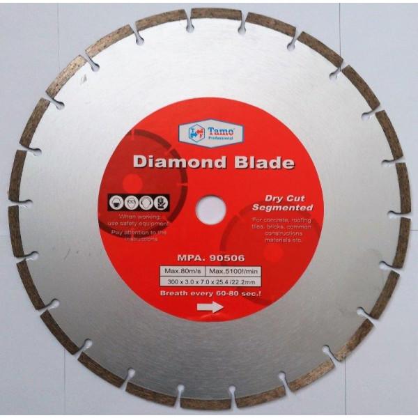 Диск алмазный сегментный 300х25.4-22.2мм, TAMOLINE - Инсел