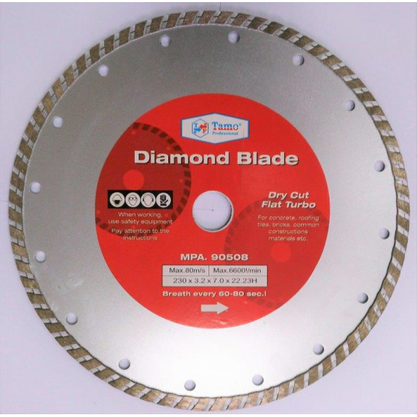 Диск алмазный турбо 230x22.2 мм, TAMOLINE - Инсел