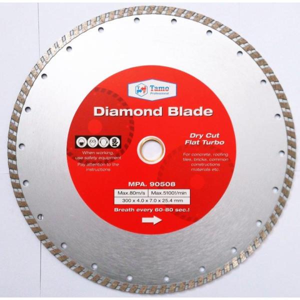 Диск алмазный турбо 300х25.4-22.2 мм, TAMOLINE - Инсел