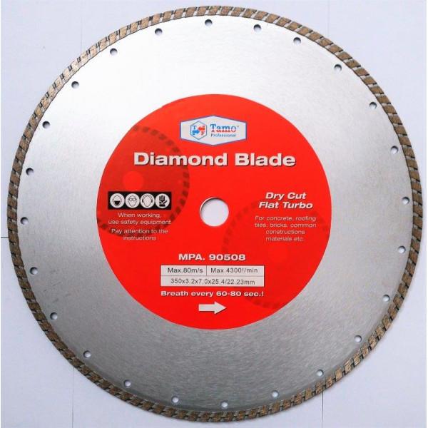 Диск алмазный турбо 350х25.4-22.2 мм, TAMOLINE - Инсел