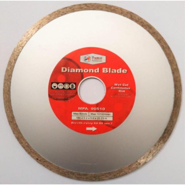 Диск алмазный сплошной по керамике 150х22,2мм, TAMOLINE - Инсел
