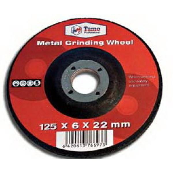 Диск шлифовальный по металлу 125x6x22,2 мм, TAMOLINE - Инсел