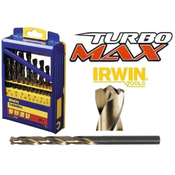 Набор сверл по металлу TURBOMAX CASS 19PCS 1.0-10.0MM,  IRWIN - Инсел