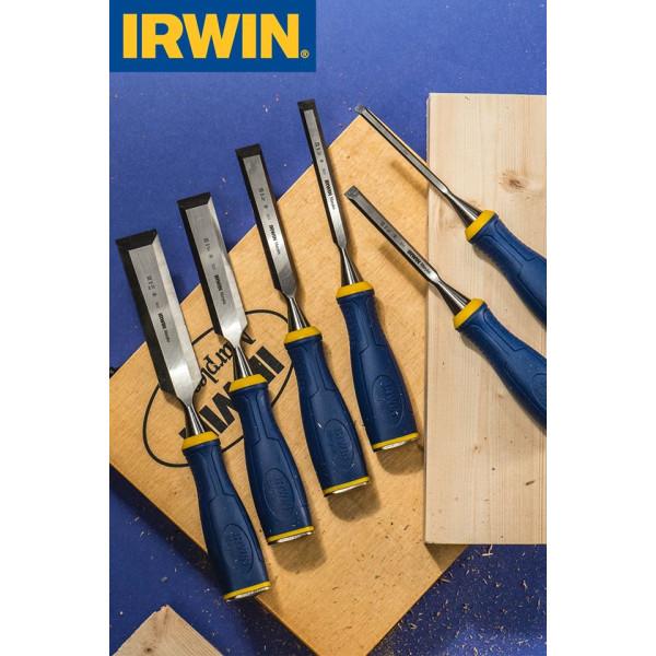 Набор стамесок в деревянной коробке 6 шт.( 6,10,12,16,20,26 мм) IRWIN  — Инсел