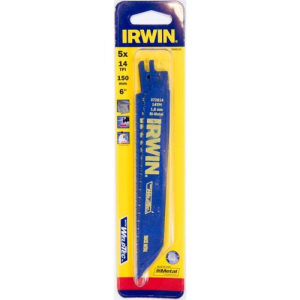 Полотно по металлу Irwin SRB: 5шт 614R 150мм 1,8мм  — Инсел