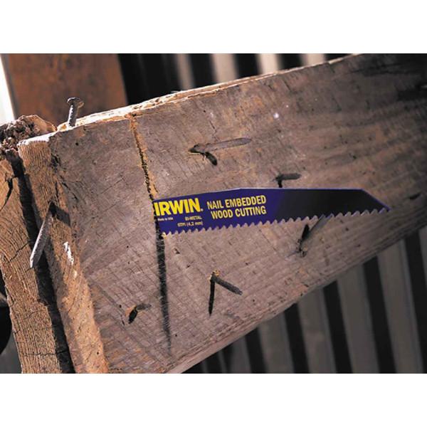 Полотно по дереву с гвоздями IWN SRB: 5шт 956R 225мм 4,2мм  — Инсел
