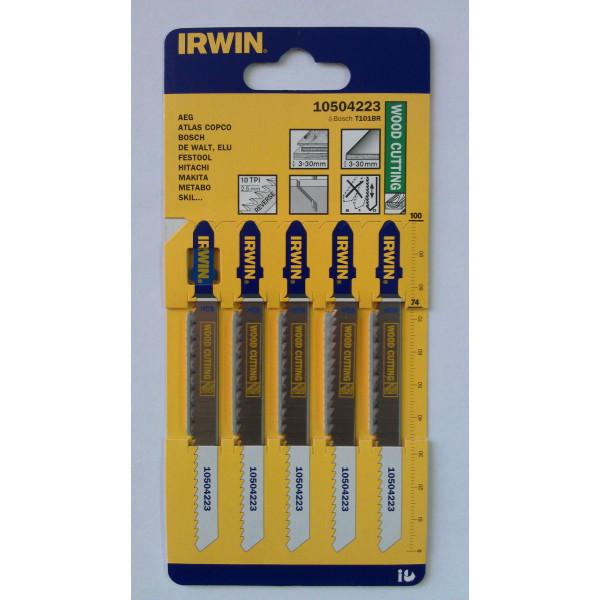 Пилка для лобзика по дереву IRWIN BJSB, 5шт T101BR - Инсел