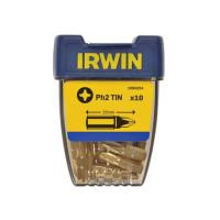 """Бита Phillips I/BIT 1/4""""/25мм PH2 TiN 10шт, IRWIN - Инсел"""