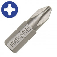 "Бита Phillips INSERT BIT 1/4""/25мм PH1 2шт, IRWIN - Инсел"