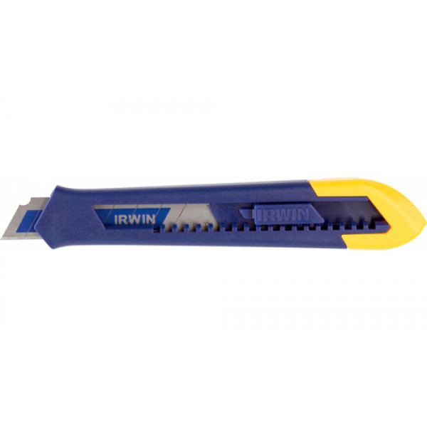 Нож с биметаллическим сегментным лезвием 18мм, IRWIN - Инсел