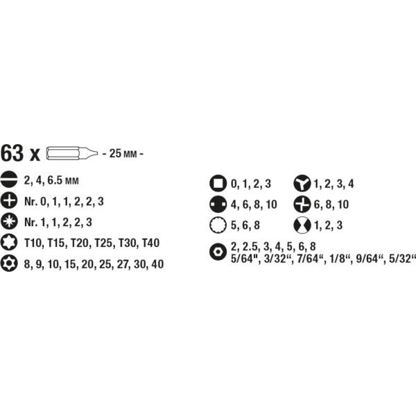 Набор бит 92 предмета, с битами спецназначения, KWB  — Инсел