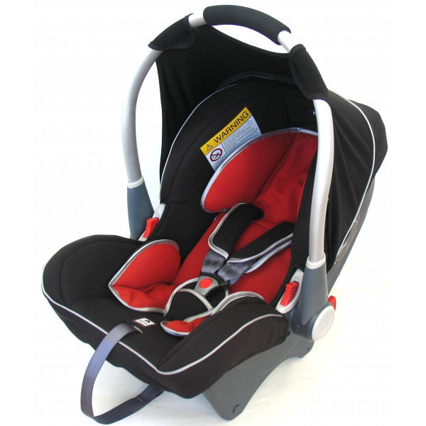Автокресло Dinofix Black&Dark Red — Инсел