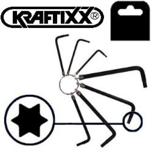 Ключ Torx, 7 шт, Т10 - Т40, Kraftixx - Инсел