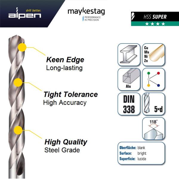 Сверло по металлу HSS-Super 4.5 PLT (2)  — Инсел