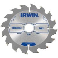 Диск пильный по деревоматериалам IR CSB 125x16Tx20, IRWIN - Инсел