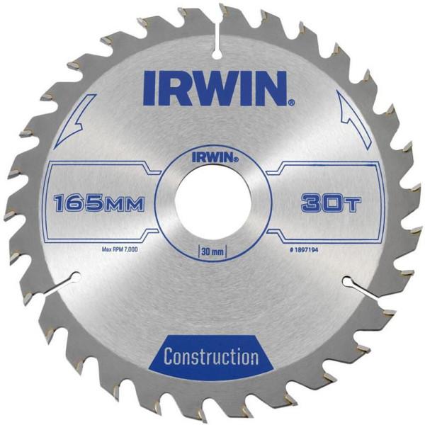 Диск пильный по деревоматериалам IR CSB 165x30Tx30, IRWIN  — Инсел