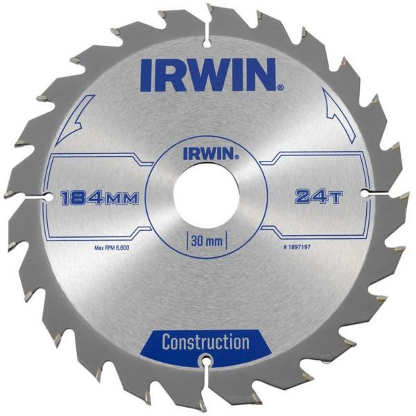 Диск пильный по деревоматериалам IR CSB 184x24Tx30, IRWIN - Инсел