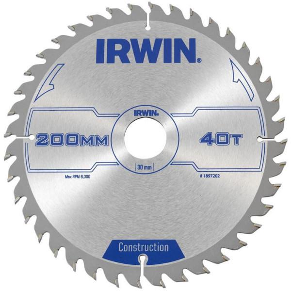 Диск пильный по деревоматериалам IR CSB 200x40Tx30, IRWIN - Инсел