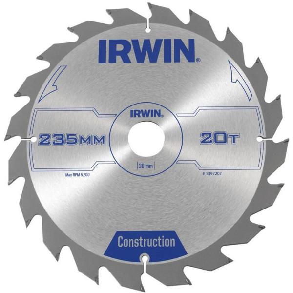 Диск пильный по деревоматериалам IR CSB 235x20Tx30, IRWIN — Инсел