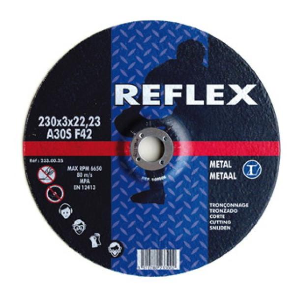 Диск отрезной по металлу 230х1.8х22, REFLEX  — Инсел