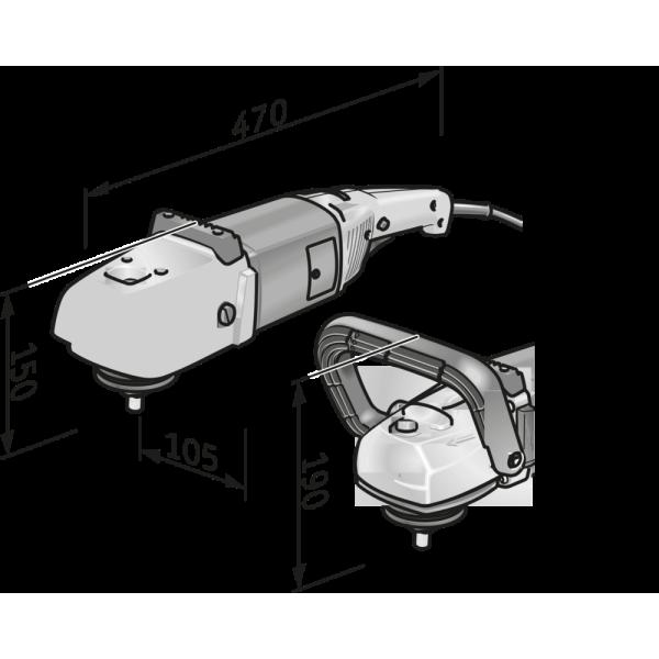 Машина полировальная L 602 VR 1500 Вт, FLEX — Инсел