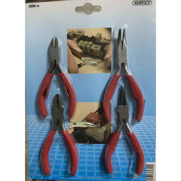 Набор губцевого инструмента  для электромонтажа, 4 предмета, Kraftixx (уценка - 25%) - Инсел