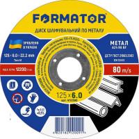 Диск шлифовальный по металлу 125х6.0х22.2, FORMATOR - Инсел
