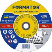 Диск отрезной по металлу 230х3.0х22.2, FORMATOR - Инсел