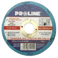 Диск отрезной по металлу 115х2.5х22 PROLINE - Инсел