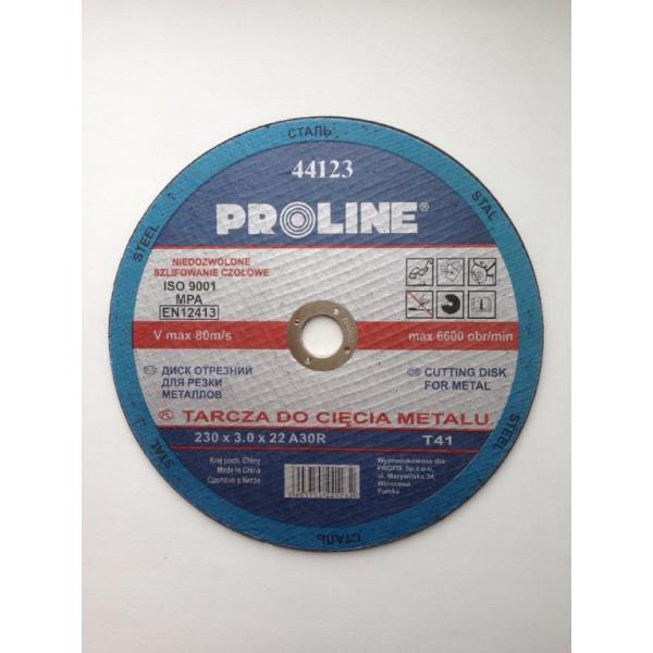 Диск отрезной по металлу 230х3.0х22 PROLINE — Инсел