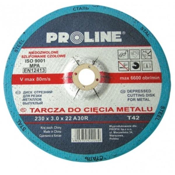Диск отрезной по металлу выпуклой формы 230х3.0х22 PROLINE - Инсел