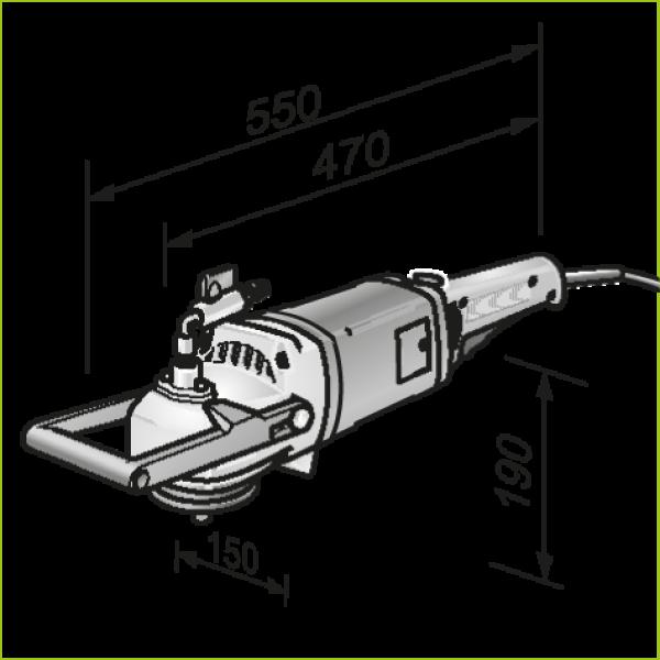 Машина для шлифования камня (с подачей воды) LW 1202 N, 1600 Вт, FLEX  — Инсел