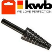 Бор-фреза для цветных металлов , коническая 15х35мм, KWB, 4950-00 - Инсел
