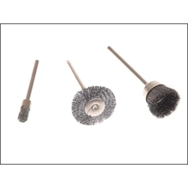 Набор щеток для мини-дрелей Ø 10мм, 3 шт, KWB - Инсел