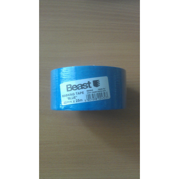 Лента малярная голубая 48мм х 25м, Beast - Инсел