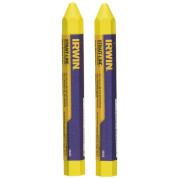 Карандаш разметочный (мелок) желтый 2шт./уп., IRWIN - Инсел
