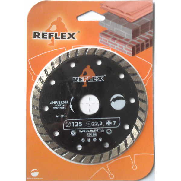 Диск алмазный Turbo 230x7x2,8 мм, REFLEX/ORANGE  — Инсел