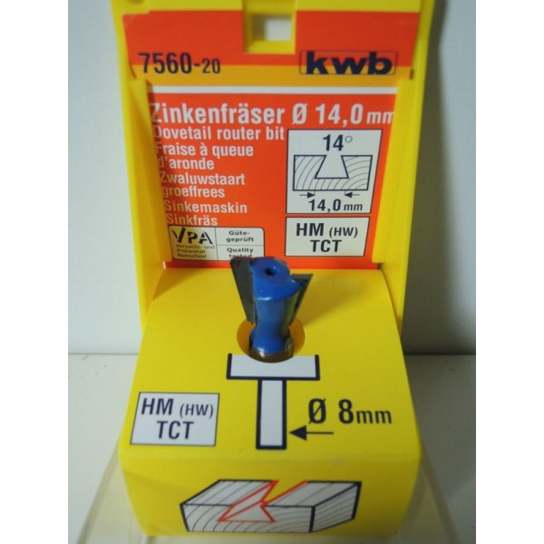 Фреза зубчастая НМ 14мм, KWB, 7560-20 - Инсел