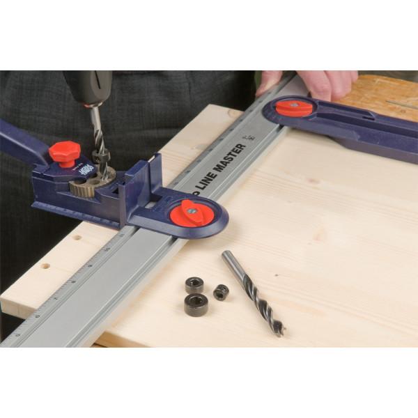 Кондуктор с шкантами и сверлами в наборе, KWB  — Инсел