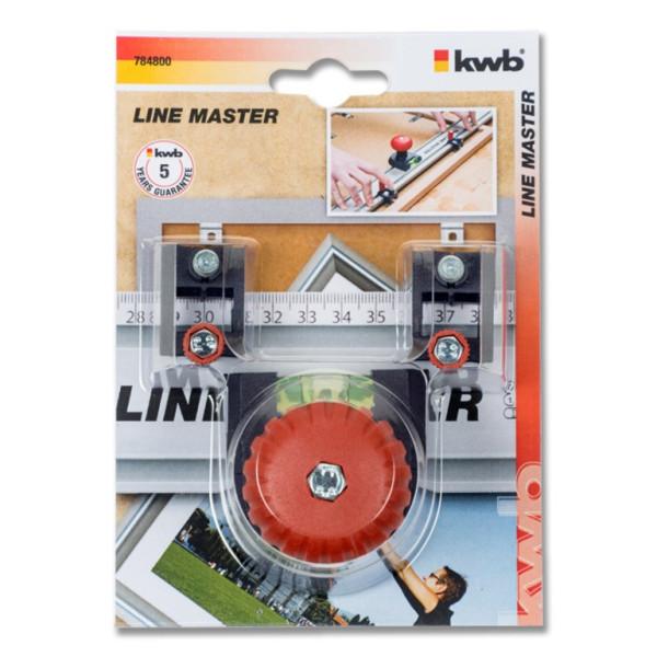 Ручка с уровнем для линейки KWB LINE MASTER, 2 маркера  — Инсел