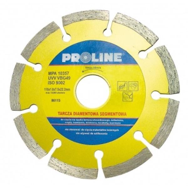 Диск алмазный 115x1,8x7,5x22,2 мм (Segm.) PROLINE - Инсел