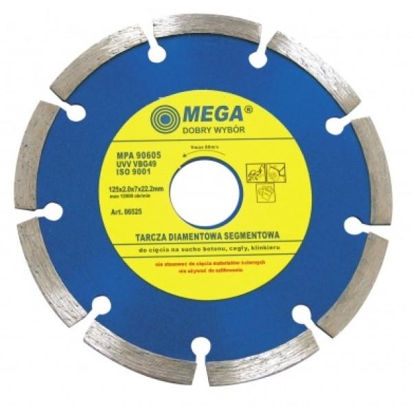Диск алмазный 115x1,8x7,0x22,2 мм (Segm.) MEGA - Инсел