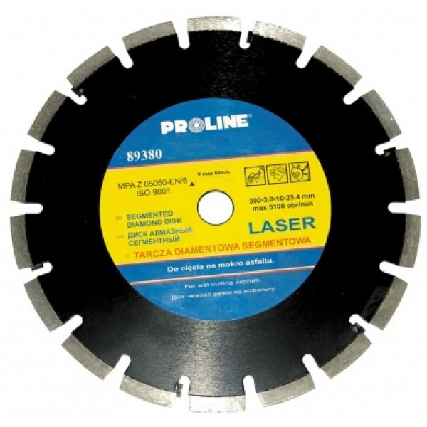 Диск алмазный для асфальта 300x3,0x10x25,4мм PROLINE - Инсел