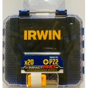 Набор бит IMPACT PRO PERF PZ2 20 шт. BULK, IRWIN - Инсел