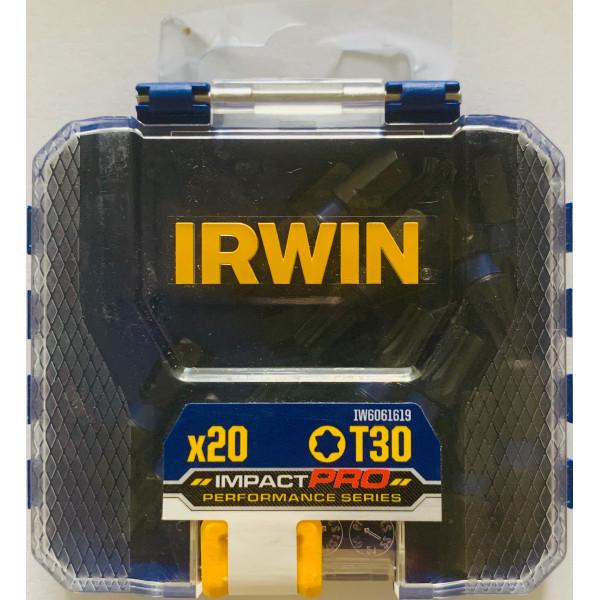 Набор бит IMPACT PRO PERF T30 20 шт. BULK, IRWIN - Инсел