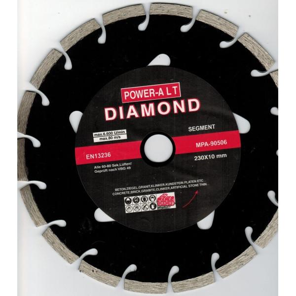 Диск алмазный сегментный 230x22,2 мм, Power Alt — Инсел