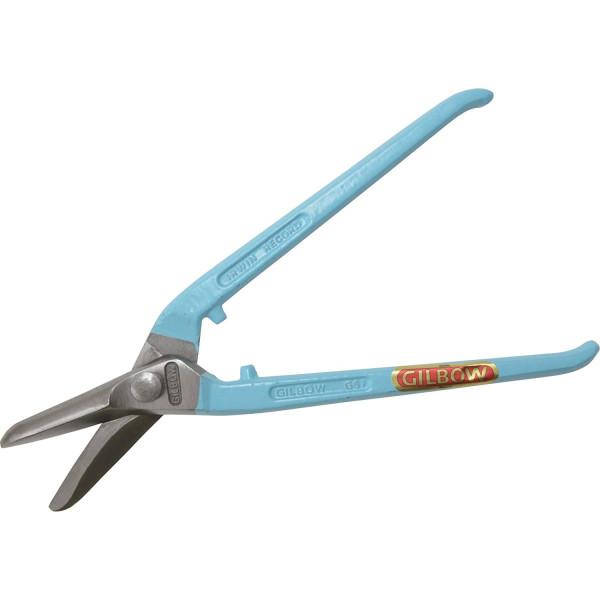 Ножницы по металлу для высоких нагрузок, леворежущие с изогнутыми рукоятками, 11